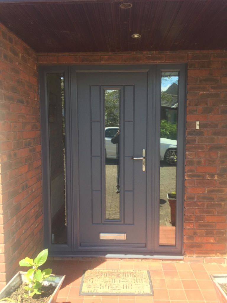 Modern Anthracite Grey Composite Front Door