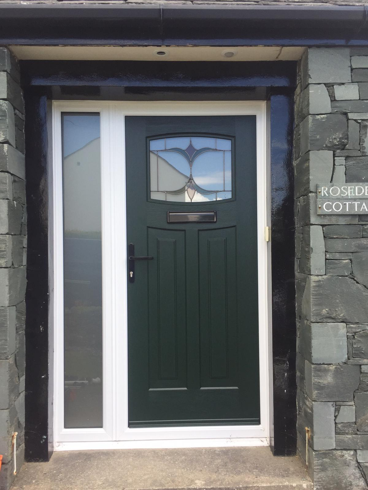 Traditional 1930 Dark Green Green Door
