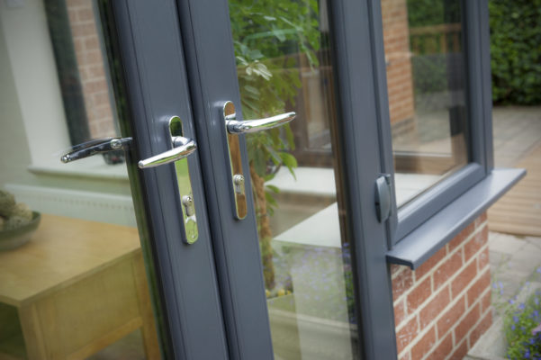 2800 French Doors Anthracite Grey Close Up