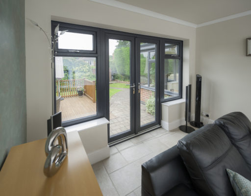 2800 French Doors with Flag Lights Anthracite Grey Internal