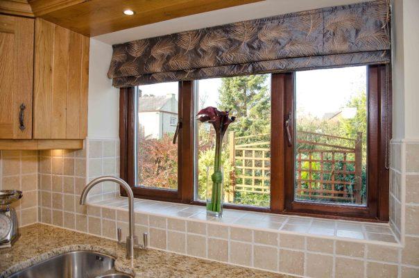 Timber windows internal kitchen view