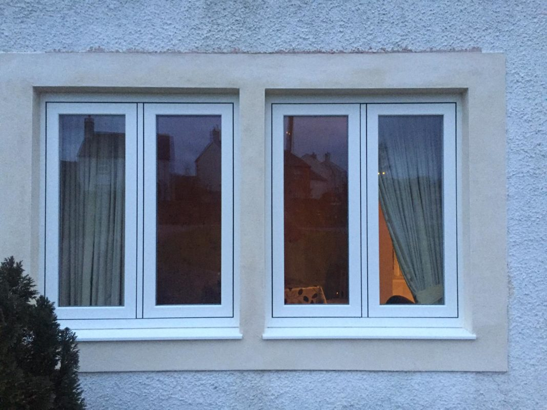 Double flush sash window in Painswick